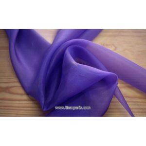 Organdi violet 131215 100% Soie