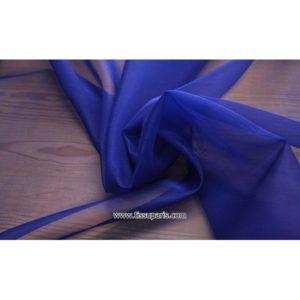 Organdi bleu 131141 100% Soie
