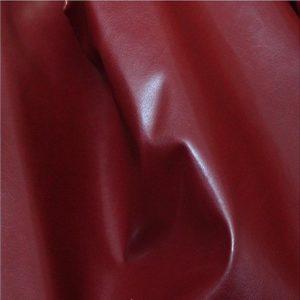 tissu simili cuir souple rouge S04
