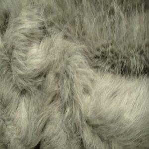 Fausse fourrure poils longs gris FSPL21
