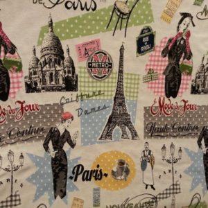 Tissus ameublement motif parisien