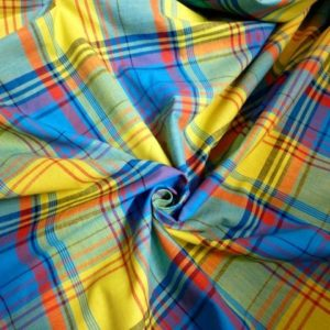 vente Tissu coton madras MDS034 pas cher