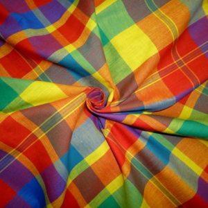 vente Tissu coton madras MDS033 pas cher