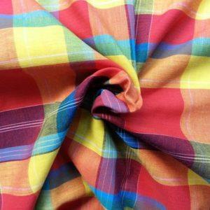 vente Tissu coton madras MDS046 pas cher
