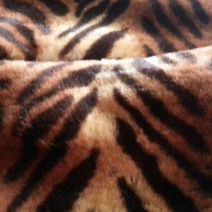 Fausse fourrure poils longs gris-bleu